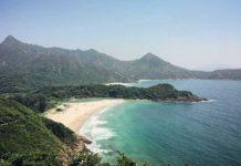 香港大浪西湾沙滩